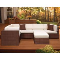 Atlantic Positano 6-Piece Dark Brown Outdoor Sectional