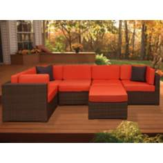Atlantic Positano 6-Piece Orange Outdoor Sectional