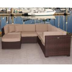 Atlantic Positano 6-Piece Off-White Outdoor Sectional