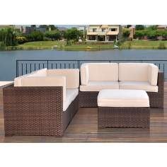 Atlantic Nice Conversation 5-Piece Outdoor Seating Set