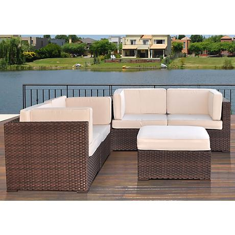 Atlantic Nice 5-Piece Off-White Outdoor Converation