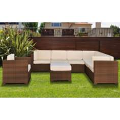Atlantic Marseille 8-Piece Off-White Outdoor Sectional