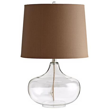 See Through Clear Glass Table Lamp