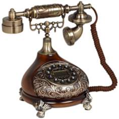 Antique Style Brass Cradle Telephone