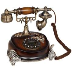 Antique Style Brushed Nickel Cradle Telephone