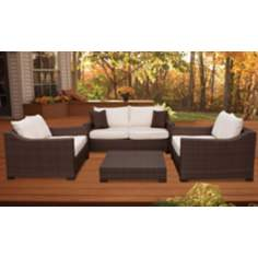 Atlantic Oxford Deep 4-Piece Off-White Outdoor Seating Set