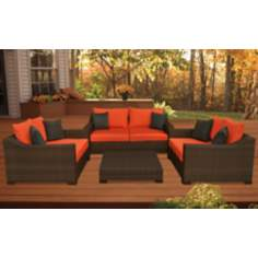Atlantic Oxford Deep 4-Piece Orange Outdoor Seating Set
