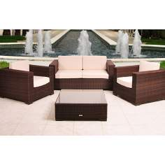 Atlantic Portofino Dark Brown Deep Seating Set