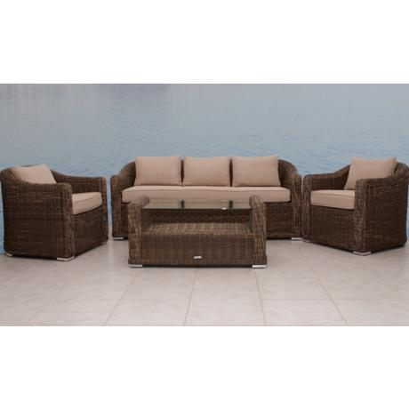 Atlantic Palma Gray and Beige Outdoor Conversation Set