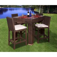 Atlantic Monza 5-Piece Outdoor Rectangular Bar Set
