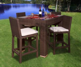 Atlantic Monza 5-Piece Outdoor Rectangular Bar Set (X6390)
