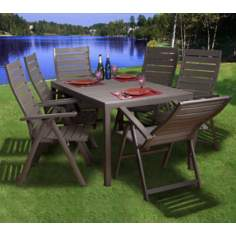 Atlantic Edinburgh 7-Piece Outdoor Dining Set