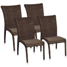 Atlantic Bari Set of 4 Side Chairs