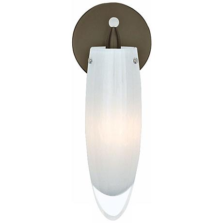 "LBL Icicle Bronze Opal Glass 11 1/2"" High Wall Sconce"