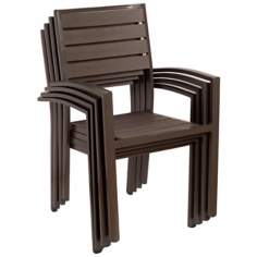 Atlantic Glasgow Set of 4 Stacking Chairs
