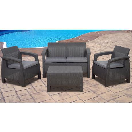 Atlantic Corfu 4-Piece Gray Outdoor Conversation Set
