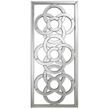 "Gaelic Screen 41"" High Rectangular Openwork Wall Mirror"