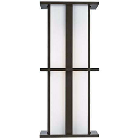 "LBL Modular Tubular Medium 28"" Bronze Outdoor Wall Light"