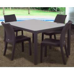 Atlantic Corfu 5-Piece Brown Rectangular Outdoor Dining Set