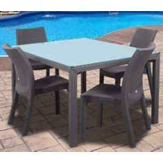 Atlantic Corfu 5-Piece Gray Rectangular Outdoor Dining Set