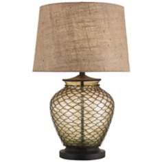 Currey and Company Wire Mesh and Glass Table Lamp