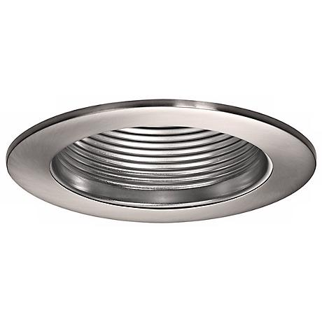 "WAC 4"" Step Baffle Recessed Downlight Brushed Nickel Trim"