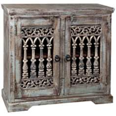 Ancient Columns Rustic 2-Door Storage Chest
