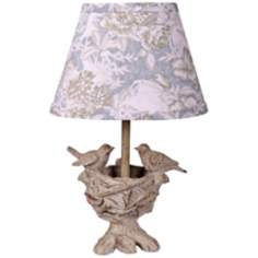Spring Blessings Accent Lamp with Toile Shade
