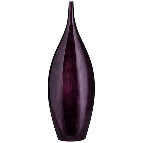 "Medium Dark Plum Purple 21"" High Line Bottle Vase"