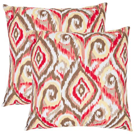 Set of 2 Safavieh Bardot Tribal Ikat Throw Pillows