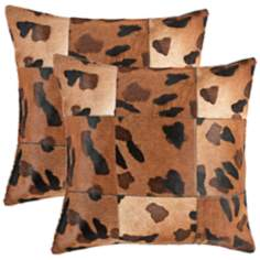 Set of 2 Safavieh Bardot Charcoal Chevron Accent Pillows