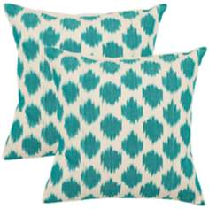 Set of 2 Safavieh Aqua Polka Dot Accent Pillows
