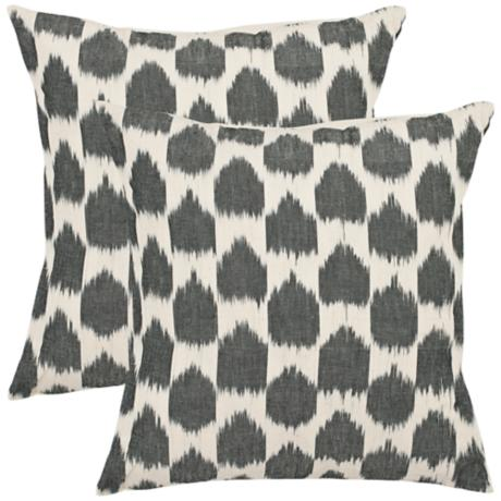 Set of 2 Safavieh Charcoal Polka Dot Throw Pillows