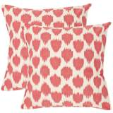 Set of 2 Safavieh Rose Polka Dot Accent Pillows