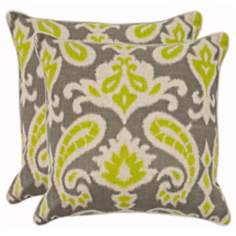 Set of 2 Safavieh Dylan Summer Lime Paisley Pillows