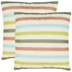 Set of 2 Safavieh Bleeker Blue and Green Accent Pillows