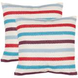 Set of 2 Safavieh Bleeker Red and Blue Accent Pillows