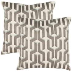 Set of 2 Safavieh Texola Blue-Silver Accent Pillows