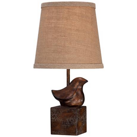 Bird Moderne Crackle Accent Lamp
