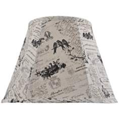 Black Bird Script Lamp Shade 9x16x12 (Spider)