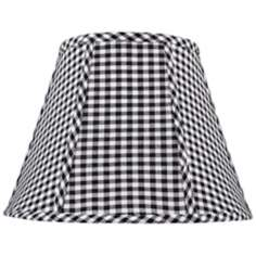 Black and White Check Lamp Shade 9x16x12 (Spider)