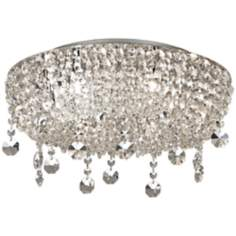 "Overture 20"" Wide Chrome and Crystal Ceiling Light"