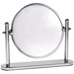 "Gatco Premier 10 1/2"" Wide Chrome Table Mirror"