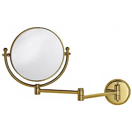 "Gatco Brass 19 1/2"" Wide Swing Arm Wall Mirror"