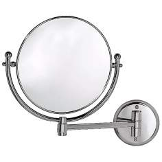 "Gatco 14 1/4"" Wide Chrome Swing Arm Wall Mirror"