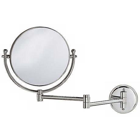 "Gatco Chrome 19 1/2"" Wide Swing Arm Wall Mirror"