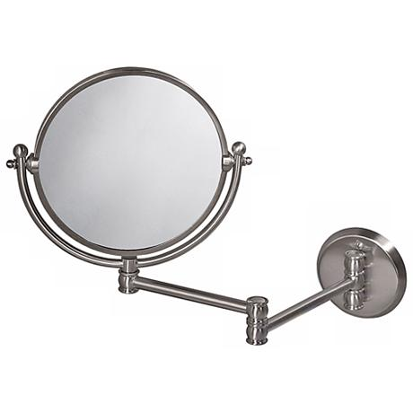 Gatco 19 1 2 Quot Wide Nickel Swing Arm Wall Mirror