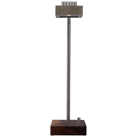 Cerno Alo Walnut and Concrete LED Desk Lamp