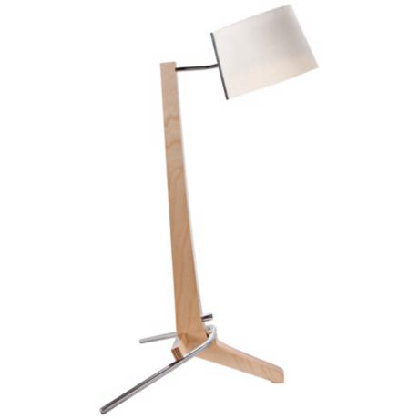 Cerno Silva Baltic Birch and White Linen Desk Lamp