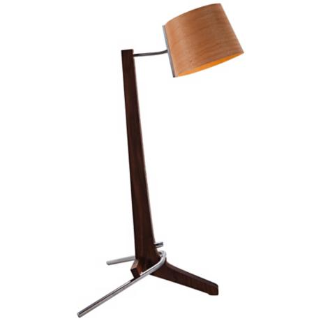 Cerno Silva Black Walnut and Beech Table Lamp